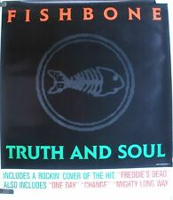 RARE FISHBONE TRUTH & SOUL 1988 VINTAGE ORIG SKA MUSIC RECORD STORE PROMO POSTER
