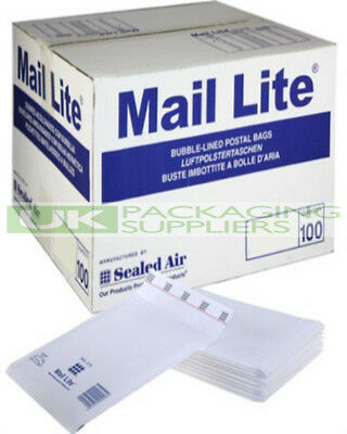 Peel 100 Small B//00 Size Mail Lite White Padded Envelopes Mailers Seal Bubble Bags 120 x 210mm // 4.75 x 8.25 Sealed Air Postal Packing Mailing Shipping Postage Posting Self Seal Cushioned Protective Packaging