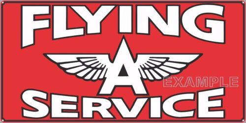 """FLYING A SERVICE GAS STATION SIGN REMAKE ALUMINUM IN//OUTDOOR 12/"""" X 24/""""//18/"""" X 36/"""""""