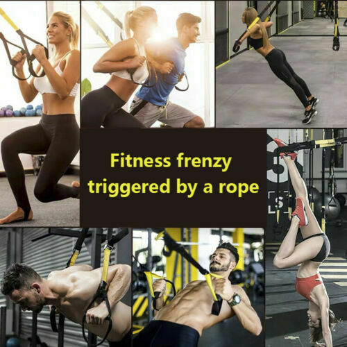 Bodyweight Resistance Straps PRO3 Suspension Trainer Kit Home Fitness Training