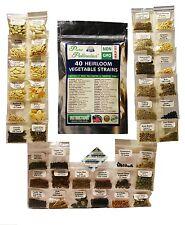 40 Heirloom Non-GMO Vegetable Fruit Emergency Healthy Survival Food Seeds Garden