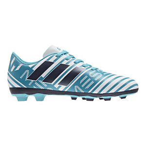 bca0bb05b45 adidas Nemeziz Messi 17.4 FXG Junior Football BOOTS Turquoise ...