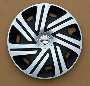 brand new black silver 15 wheel trims to fit nissan micra note almera ebay. Black Bedroom Furniture Sets. Home Design Ideas