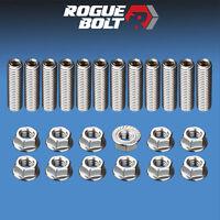 Amc / Jeep V8 Header Stud Kit Bolts Stainless Steel 290 304 343 360 390 401