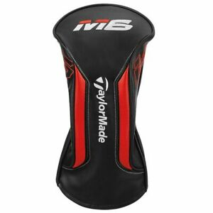 NEW-2019-TAYLORMADE-M6-HEADCOVER-DRIVER-BLACK-WHITE-BLOOD-ORANGE