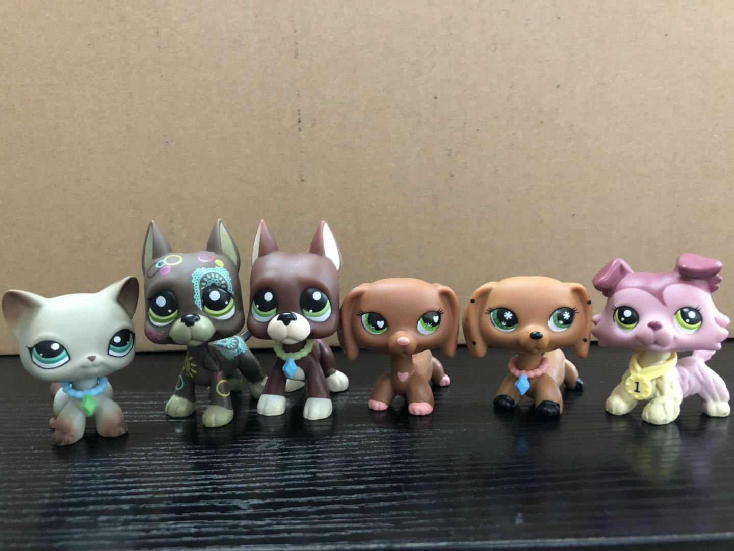 6x Littlest Pet Shop Sausage Dog & Collie Dog & Cat Kid Boy Girl Gifts Rare