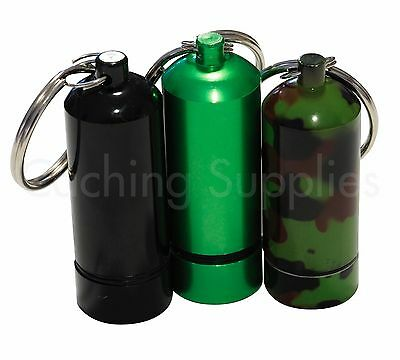 Bison Tube Geocache Container with Log for Geocaching Camo, Green or Black