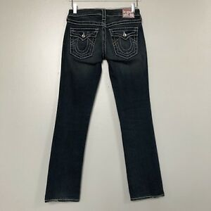 27 Disco Thick Rhinestone Mørk True Billy Religion Stitch Big Jean Womens T vask gtxtw7qU1