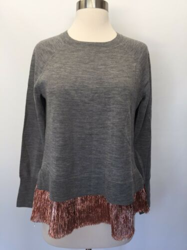 Crew G9660 Lame J Grey à Xs cou Pull Collection superpositions ras Xsmall New du TOFx5wq5U
