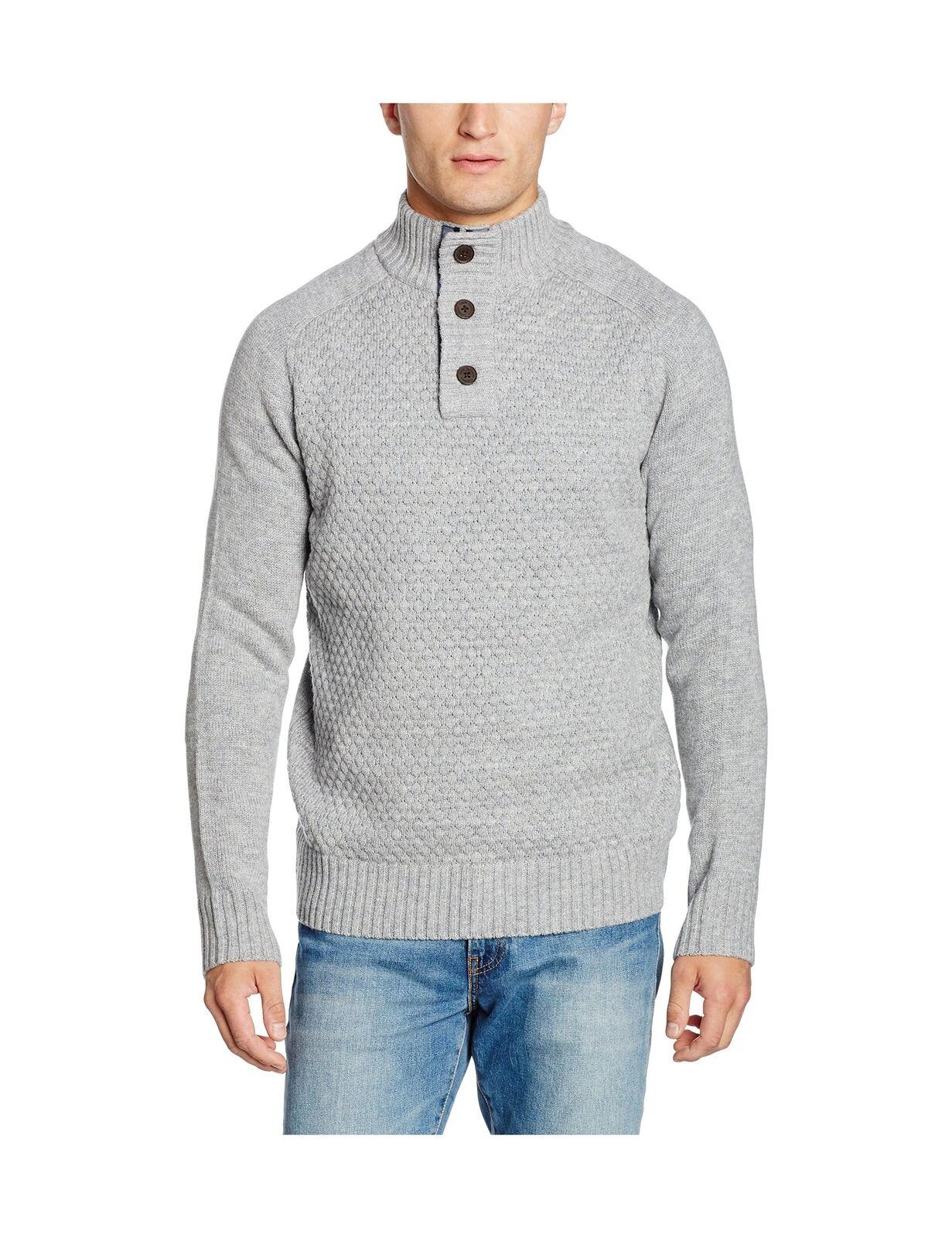 Crew Clothing uomo fonthill Maglione Grigio (Mid Grigio Marle) x-Large
