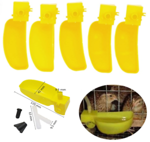 30Sets Quail Automatic Drinking Cups Drinking Water Feeder Birds Chicken Poultry
