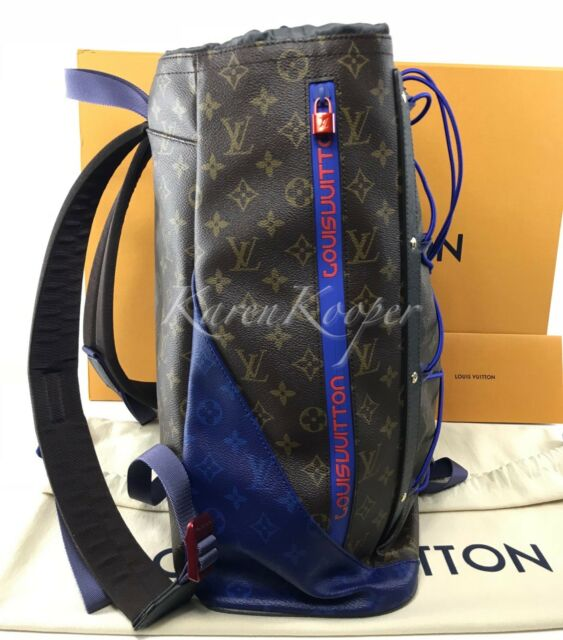 74b03ad60c AUTHENTIC LOUIS VUITTON MONOGRAM BACKPACK OUTDOOR PACIFIC BLUE BAG KIM  JONES NEW