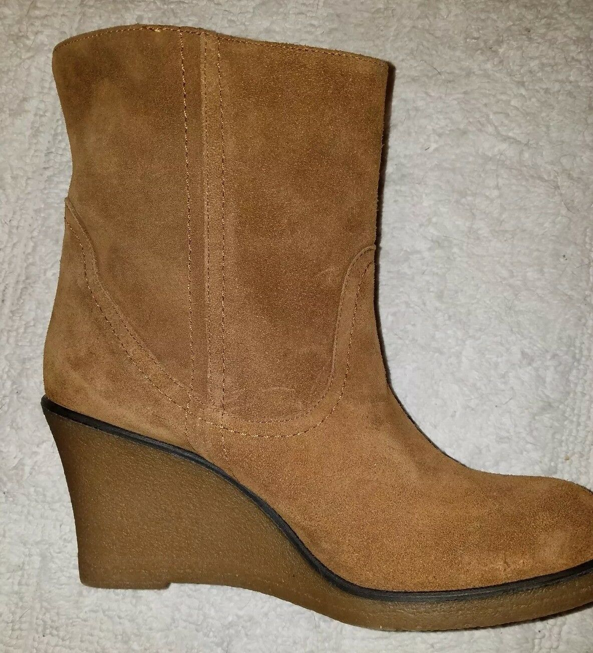Charles David NEW Braun Fringed Suede wedge Booties ankle booties NEW David 39 US 9 7aadc1
