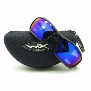352eb4b87b Details about Wiley X Tide Polarized Gloss Black Blue Mirror Sunglasses  Authentic CCTID09 New