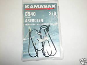 Kamasan-2-x-B940-Aberdeen-sea-hook-packs-sz1-Fishing