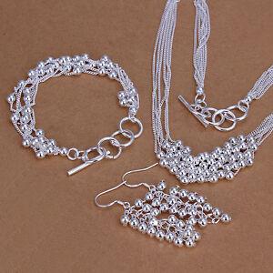 wedding-gift-silver-Fashion-bead-Beautiful-Ring-Earring-Bangle-Set-S137