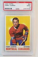 1970 Topps Hockey Card #53 Terry Harper PSA 9