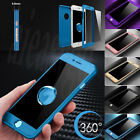Hybrid 360° New Shockproof Case Tempered Glass Cover For Apple iPhone 6 7 8 Plus