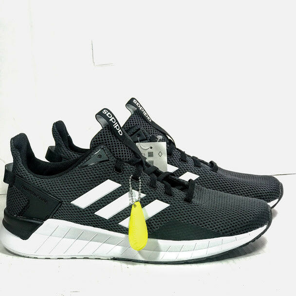 Adidas Men's Questar Ride Running shoes, Black White Carbon, Size 11 NEW
