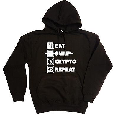 FoMo SAPIENS Felpa con cappuccio-Bitcoin Crypto Reddit BTC LTC XRP Tee-in 6 colori!