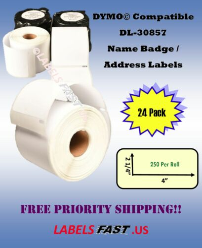 30857 Dymo® 4XL Endicia® Compatible 24 Rolls Paper Blank Labels Large Adhesive