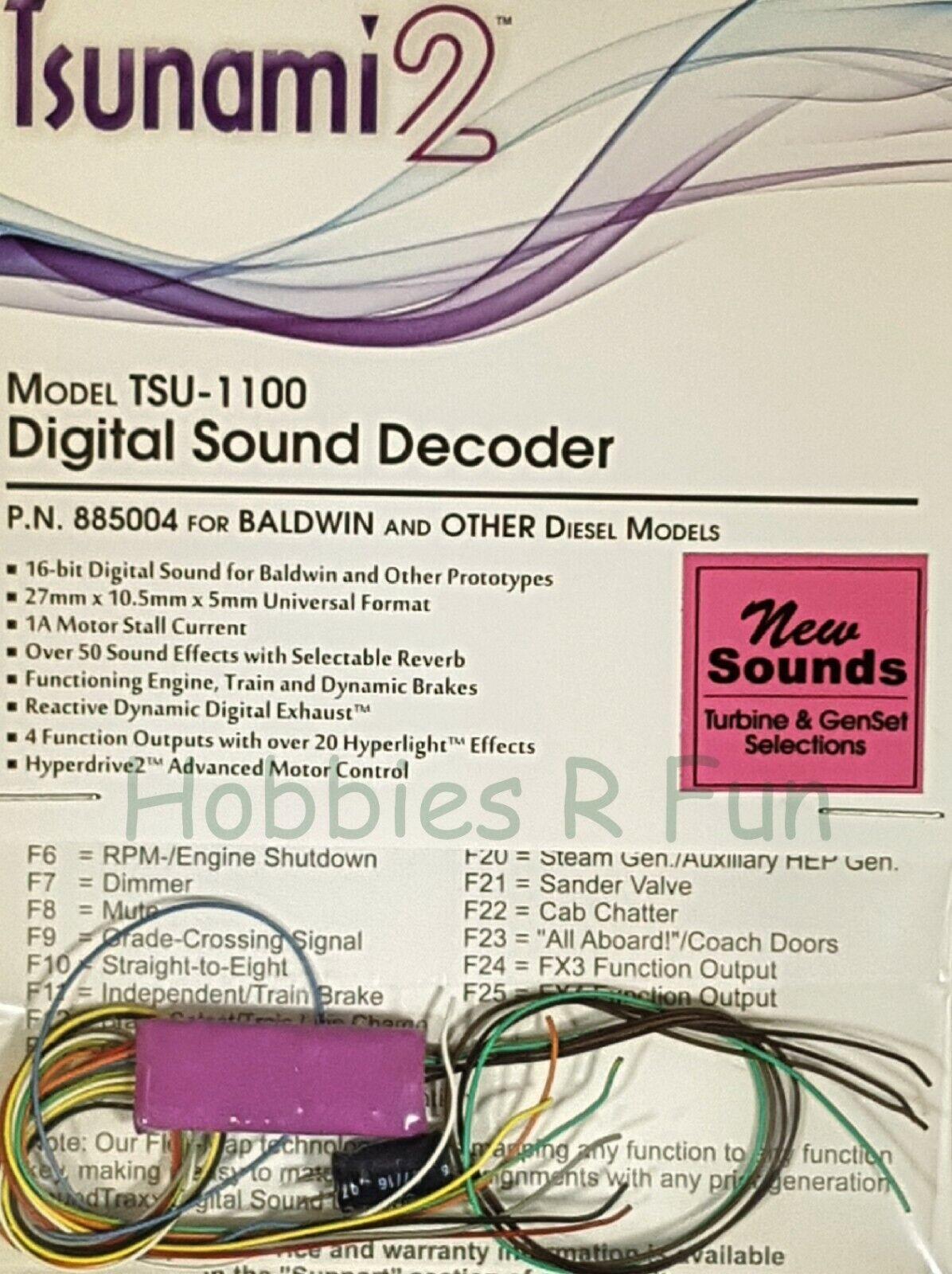 DCC decoder suonotraxx TSU1100 Tsunami2 Digital suono for Baldwin & Other locos