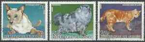 Timbres-Chats-Guinee-776-779-780-o-lot-25427