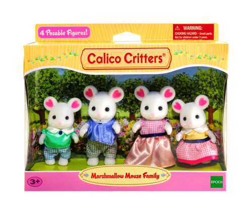 Sylvanian Families Calico Critters Marshmallow Mouse Family