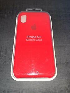 Apple Coque en Silicone pour iPhone X/XS Original - Rouge