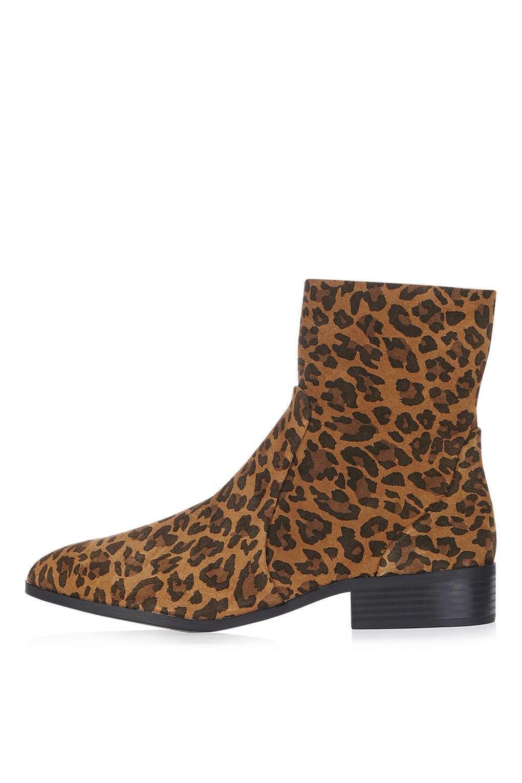 BNWT Topshop true true Topshop Leopard Sock Boot UK 4 ce3308