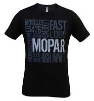 Mopar Wordology Street Words Short Sleeve T-shirt T Shirt Black Large