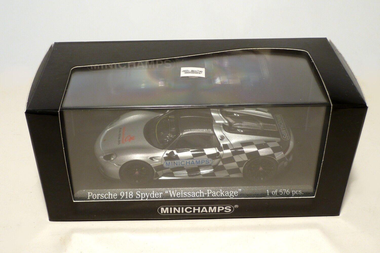 promociones Porsche 918 Spyder Weissach Minichamps Minichamps Minichamps 1 43 feria modelo Juguete Fair 2015 413062136  colores increíbles