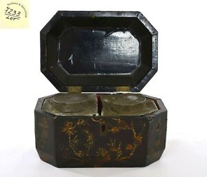 19C Chinese Export Lacquer Wood Tea Box Chest 2 Fitted Pewter Tea Caddy Bonhams