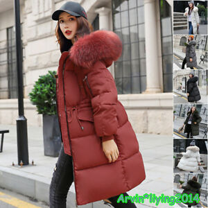 24c1bbb9ee8 Womens Plus Size Fur hooded Quilted Padded Winter Coat Puffa Parka ...