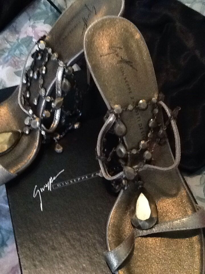 Giuseppe Zanotti Bronze Chandelier Sandals 41 New With Box
