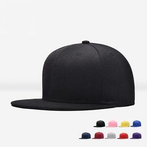 Men-Blank-Plain-Snapback-Hats-Unisex-Hip-Hop-Adjustable-Bboy-Baseball-Caps-GA