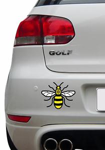 Couleur-Manchester-Bee-Autocollant-Vinyle-Autocollant-Voiture-Van-iPad-Fier-d-039-etre-Mancunian