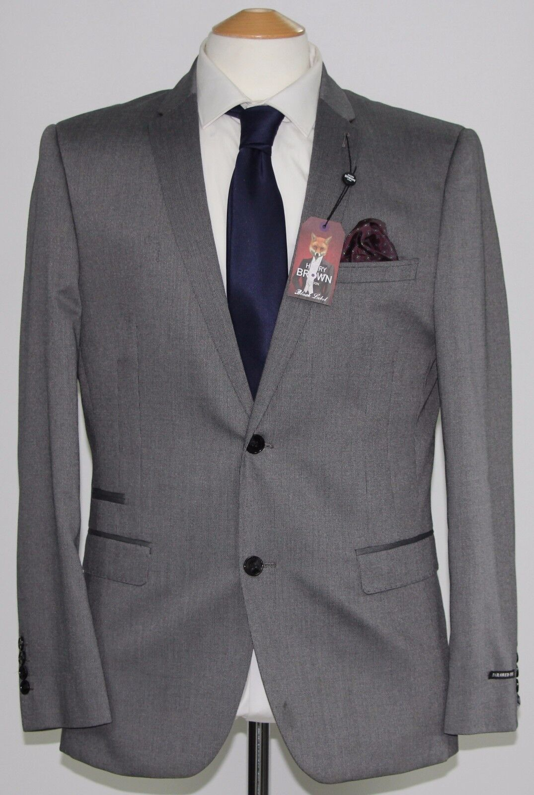 Men's Harry Brown, 2pc Grey Tailored Fit suit... sample 294