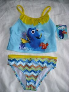 3bcb713f81 Disney's Finding Dory Nemo 2 Piece Girls Swim Suit UPF 50+ Size ...