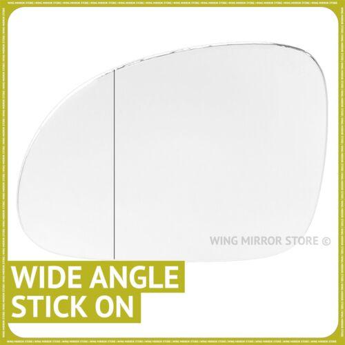 MAIN GAUCHE côté passager pour VW Jetta 2005-2011 Grand Angle Wing mirror glass