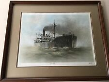 """John Kelly """"China Tanker"""" Singed & Numbered, Framed Fine Art Lithograph Print"""