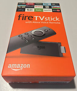 AMAZON FIRE TV STICK STREAMING MEDIA PLAYER WITH ALEXA VOICE REMOTE - GEN2 (NIB)
