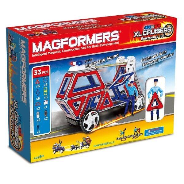 Original Magformers XL-Cruisers Emergency Set 33 Teilig