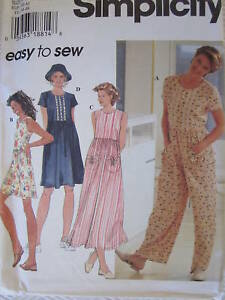 UNCUT-Vintage-Simplicity-SEWING-Pattern-7081-Misses-Romper-Dress-Hat-EASY-OOP-FF