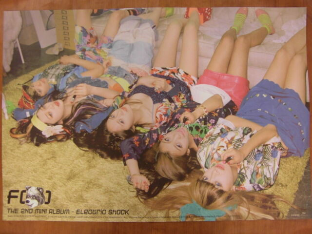 f(x) - Electric Shock (B Ver.) [OFFICIAL] POSTER K-POP *NEW* FX