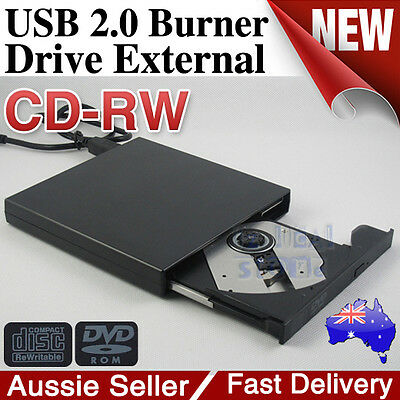 USB 2.0 External IDE DVD ROM CD±RW Burner Writer Drive Portable For Mac Win7