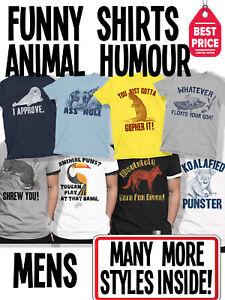 9b2c692cb Funny Mens Animal Humour T-Shirts Novelty Pun T Shirts Joke Tees ...