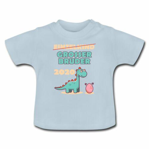 Einzelkind Grosser Bruder 2020 Dinosaurier Baby T-Shirt