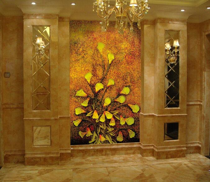 3D Fiore Gelb 0 Parete Murale Foto Carta da parati immagine sfondo muro stampa