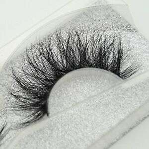 Natural-Cross-Long-100-Real-3D-Mink-Fur-Eye-Lashes-Extension-False-Eyelashes-YM